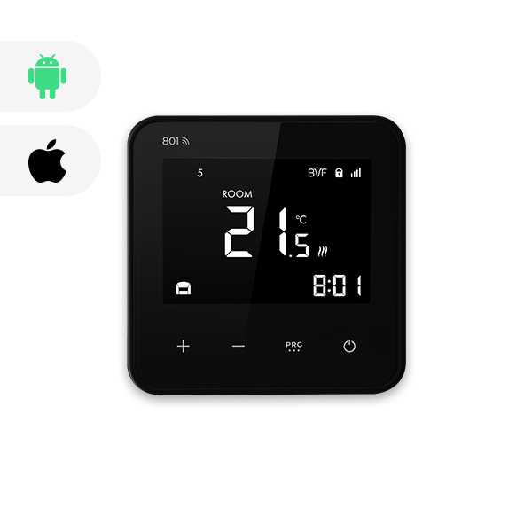 BVF 801 WIFI izbový termostat + podlahový senzor 3m - čierna