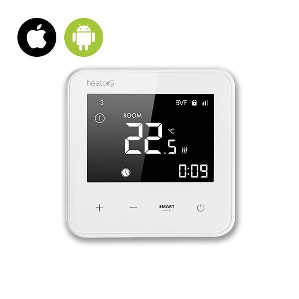 BVF HEATO 9 WiFi Ready izbový termostat + 3m podlahový senzor - biela