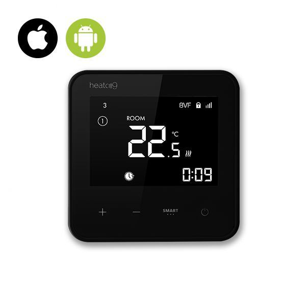 BVF HEATO 9 WiFi Ready izbový termostat + 3m podlahový senzor - čierna