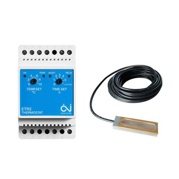 ETR2 termostat + ETOR55 senzor vlhkosti - zrážok