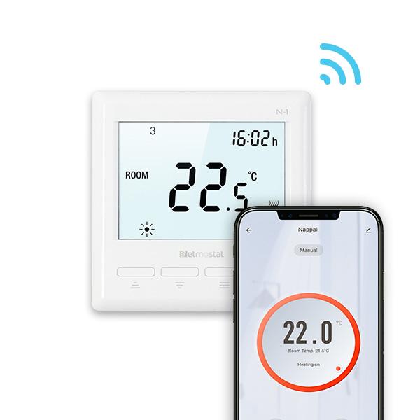 Izbový termostat Netmostat s WIFI + podlahový senzor 3m